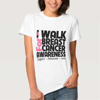 I Walk For Breast Cancer Awareness Tees