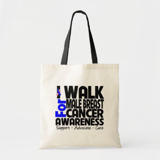 I Walk For Male Breast Cancer Awareness Bags