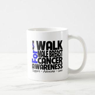 I Walk For Male Breast Cancer Awareness Basic White Mug