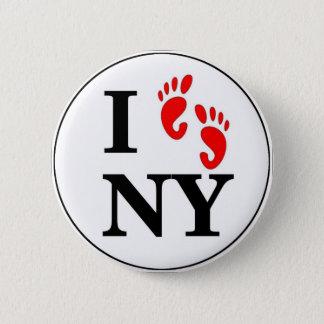 I Walk NY 2 Inch Round Button