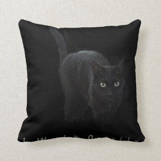 I Walk Quietly Throw Pillow