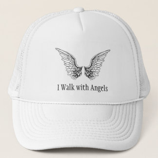 I Walk with Angels Trucker Style Cap