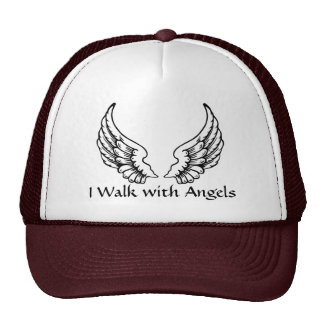 I Walk with Angels Trucker Style Cap Trucker Hat