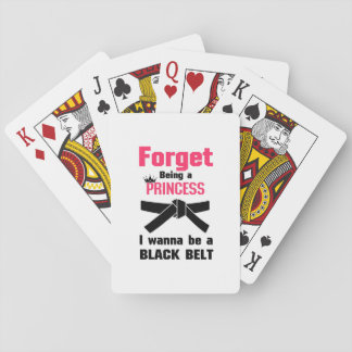 I Wanna Be a Black Belt Karate Tae Kwon Do Playing Cards