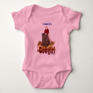 I Wanna Be A Cowgirl Infant Creeper