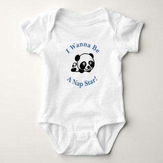 I Wanna Be a Nap Star Sleepytime Panda Bear Design Shirt