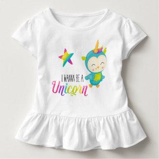 I Wanna Be a Unicorn (Bird) Ruffled Shirt