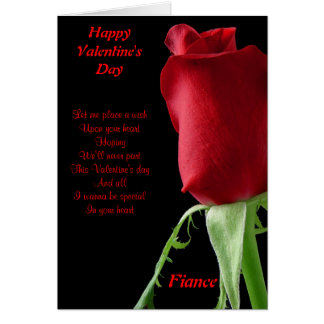 I wanna be special in your heart fiance card