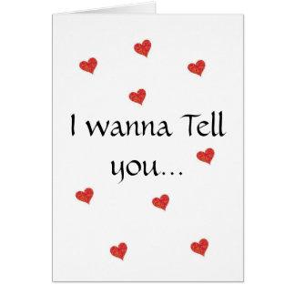 I wanna card