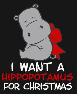 I Wanna Hippopotamus For Christmas.Hippopotamus For Christmas Gifts On Zazzle Ca