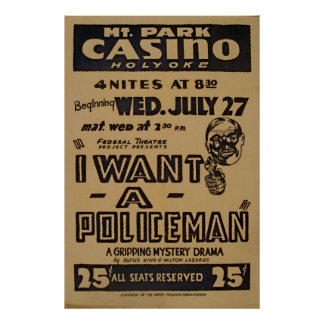 I Want A Policeman WPA Vintage Poster