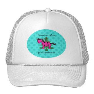 I want a zebra for christmas trucker hat