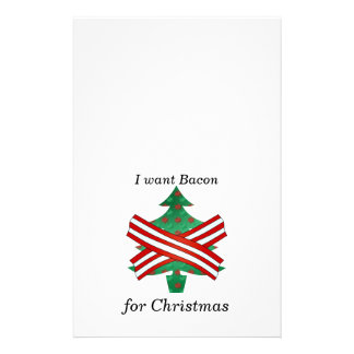 I want bacon for christmas stationery