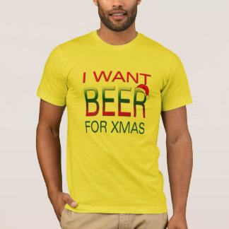 i want beer for christmas  funny t-shirt design