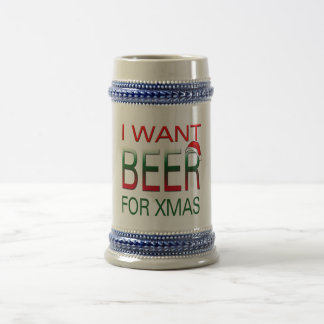 i want beer for christmasbeer stein