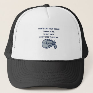 I want Cats to Like Me Trucker Hat