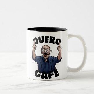 I want Coffee Two-Tone Coffee Mug