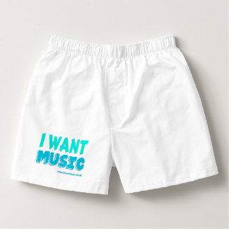 I Want Music Men's Cotton Boxers