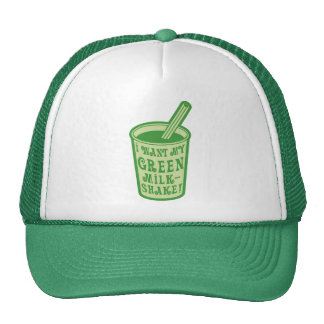 I Want My Green Milkshake T-shirts Mesh Hats