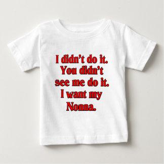 I want my nonna (Italian Grandmother) Baby T-Shirt