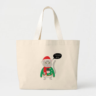 I want my present right may large tote bag