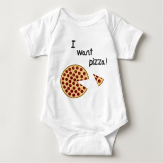 I want pizza baby bodysuit