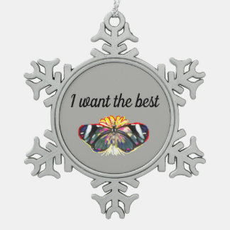 I want the best snowflake pewter christmas ornament