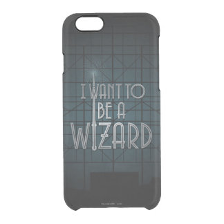 I Want To Be A Wizard Clear iPhone 6/6S Case