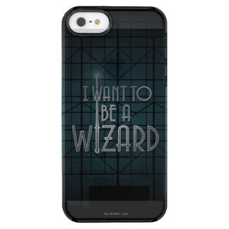 I Want To Be A Wizard Clear iPhone SE/5/5s Case