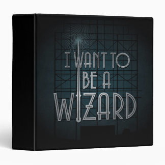 I Want To Be A Wizard Vinyl Binder