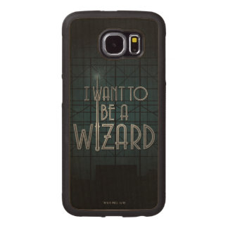 I Want To Be A Wizard Wood Phone Case