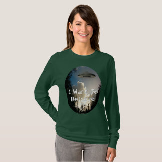 I Want To Believe 2017 Lady's Oval LS Shirt