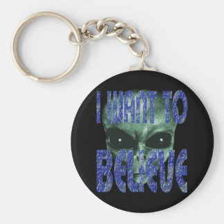 I Want To Believe 2 Basic Round Button Keychain