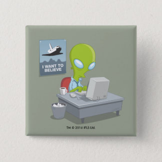 I Want To Believe 2 Inch Square Button