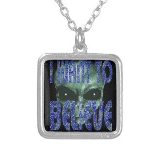 I Want To Believe 2 Silver Plated Necklace