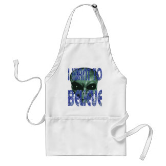 I Want To Believe 2 Standard Apron