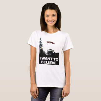 I Want To Believe, Classic, Lady's Basic Shirt