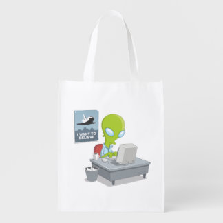 I Want To Believe Reusable Grocery Bag