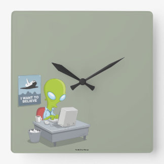 I Want To Believe Square Wall Clock