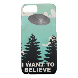 I Want to Believe Vintage UFO Poster iPhone 7 Case