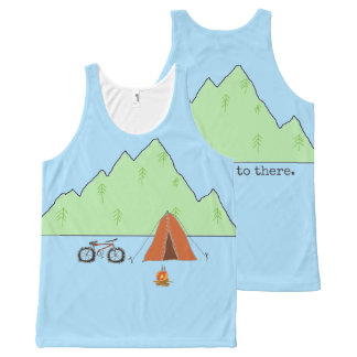 I Want to Go to There  unisex tanktop All-Over-Print Tank Top