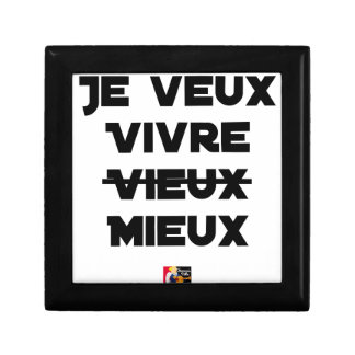 I WANT TO LIVE VIEUX/MIEUX - Word games - Francoi Gift Box