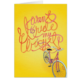 I want to ride my bicycle - Blank Card
