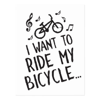 I Want to Ride My Bicycle Postcard