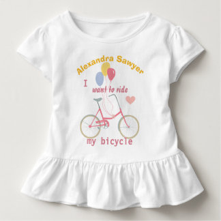 I want to ride my bicycle Vintage Bike Balloons Toddler T-shirt