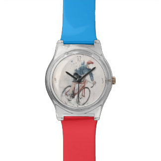 I want to ride my bicycle wrist watch
