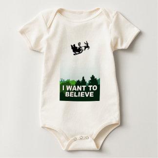 i want ton believe christmas, x-files alien UFO Baby Bodysuit
