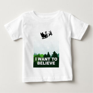 i want ton believe christmas, x-files alien UFO Baby T-Shirt