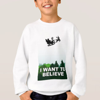 i want ton believe christmas, x-files alien UFO Sweatshirt