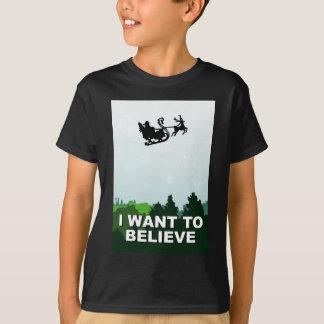 i want ton believe christmas, x-files alien UFO T-Shirt